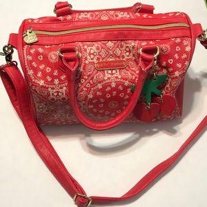 Betsey Johnson Red Bandana Bag